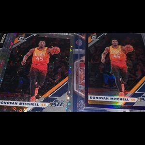 Utah Jazz Mitchell cards optic disco purple base